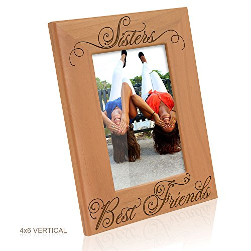 Kate Posh - Sisters and Best Friends Picture Frame (4x6 Vertical) (Friends Picture Frame Vertical compare prices)