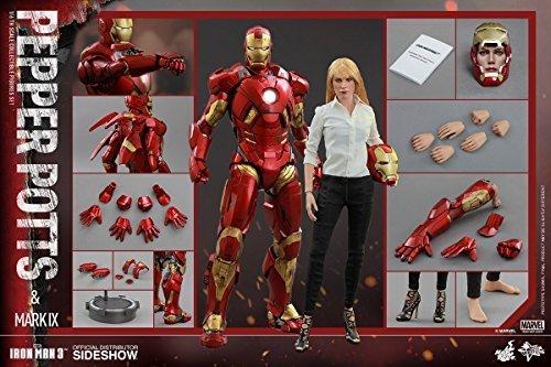 Hot Toys Marvel Iron Man 3 Iron Man Mark IX & Pepper Potts 1/6 Scale Figure Set