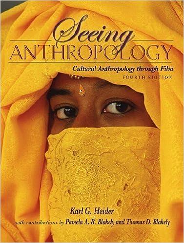 Ethnographic film clips (dvd): karl g. Heider, pearson education.