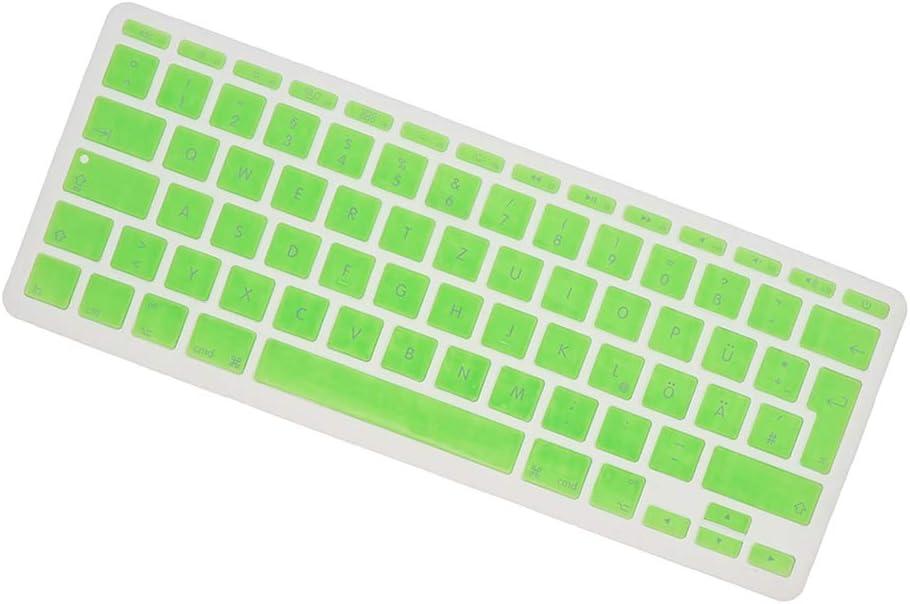 Pink Gazechimp German Keyboard Anti Dust Silicone Cover Skin for European 11inch MacBook