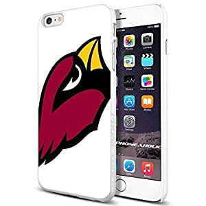 Arizona Cardinals,Cool iPhone 6 Plus (6+ , 5.5 Inch) Smartphone Case Cover Collector iphone TPU Rubber Case White