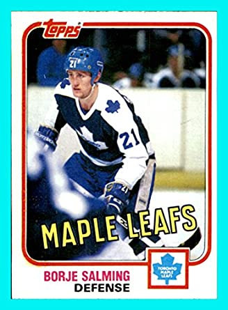 buy online b0e07 dcf8f 1981-82 Topps #33 Borje Salming TORONTO MAPLE LEAFS Vintage ...