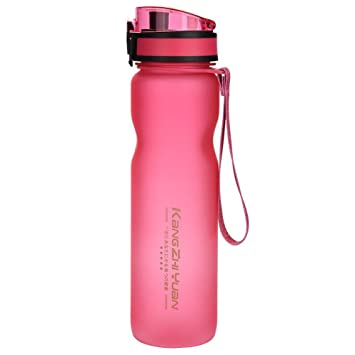 Alomejor Botella De Agua Deportiva, Plástico Tritan Botella de Agua de a Prueba de Fugas