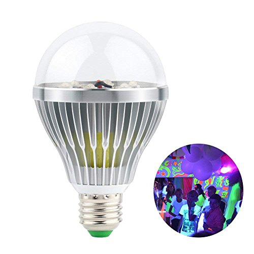 LaluceNatz 18W Black Lights Bulbs with 6 UV LED Bulb UV Spotlight E27