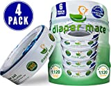 Diaper Mate Refill for Diaper Genie Diaper Pails 4 Pack - 1,120 Count - 6 Month Supply Image