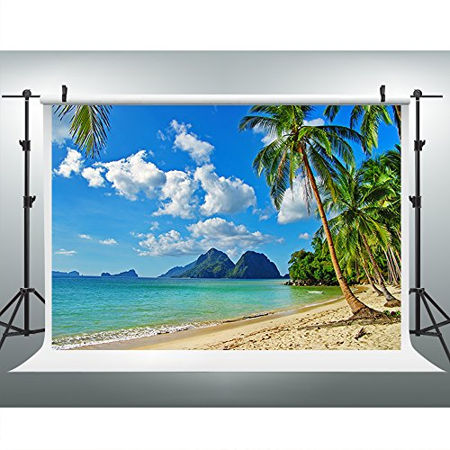 Tropical Beach Photo - Maijoeyy 7ftx5ft Tropical Backdrop Beach Photo Backdrop for Picture Moana Party Photography Props S-572