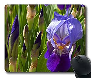 Gaming Mouse Pad Oblong Shaped 1508 purple iris flower Mouse Mat Design Natural Eco Rubber Durable Computer Desk Stationery Accessories Mouse Pads For Gift Support Wired Wireless or Bluetooth Mouse