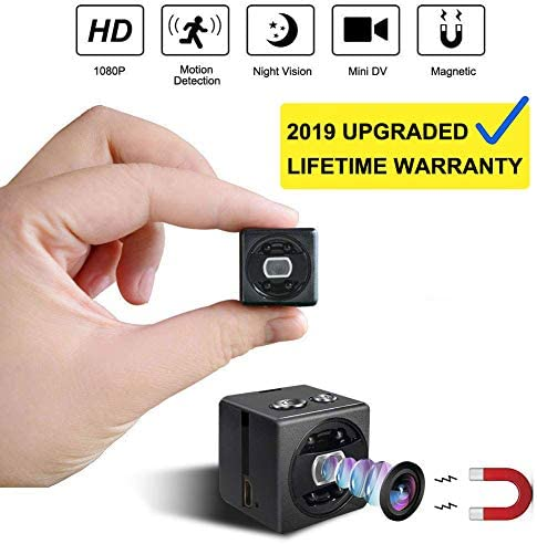 Mini Spy Hidden Camera cop cam – HD 1080P Portable Small Nanny Cam Surveillance Magnetic Security Camera with Night Vision Motion Detection Perfect Indoor Outdoor Surveillance Camera Home Car Office