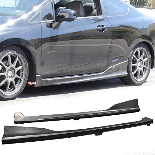 - Side Skirts Fits 2012-2015 Honda Civic | HF-P Style Black PU Sideskirt Rocker Moulding Air Dam Chin Diffuser Bumper Lip Splitter by IKON MOTORSPORTS| 2013 2014 2015