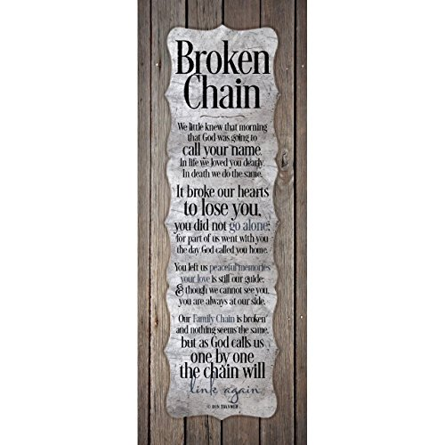 Dexsa Broken Chain.New Horizons Wood Plaque
