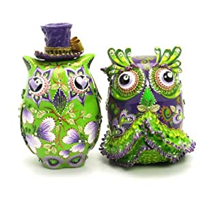 ceramic owl wedding cake toppers green owl cake toppers for wedding a00007 12489