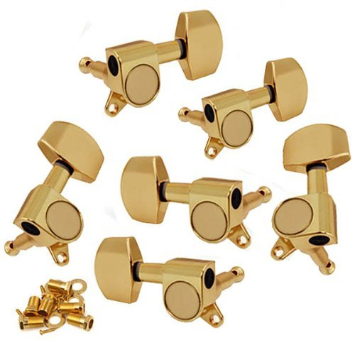 DN 6pcs 3L3R Guitar Tuners Tuning Pegs Sealed Machine Heads Golden