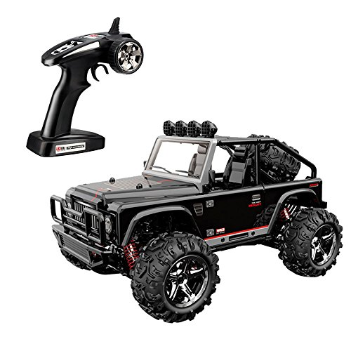 SZJJX RC Cars, 45KMH High Speed Racing Remote Control Monster Trucks 1/22 Scale 4WD 2.4Ghz Radio Controlled Off-Road Vehicle Rock Crawler Fast Electric Desert Buggy (Black2)