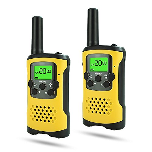 DIMY Christmas Toys for 3-12 Year Old Boys, Stocking Stuffer Fillers Walkie Talkies for Kids Best Outdoor Top Toys for 3-12 Year Old Girls Gifts Age 3-12 Yellow DJ93 ()
