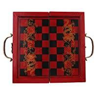 SONONIA 折り畳み アンティーク 中国チェス ボードゲーム 木製 チェスピース セットの商品画像
