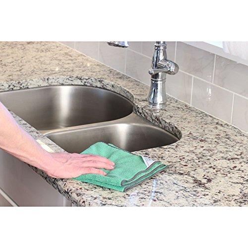 Cedar Creek 12''x16'' Premium Plush Microfiber Cleaning Cloths, Professional Grade, Green, 144 Case Value Pack by Cedar Creek (Image #7)