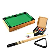 Lykos Mini Table Top Pool Table and Accessories 18 x 11 x 3 Inches Kids Games