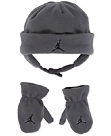 712e35dde1b Image Unavailable. Image not available for. Color  Nike Jordan Baby Boy s 12 24M  Fleece Beanie Hat   Mittens Set Grey