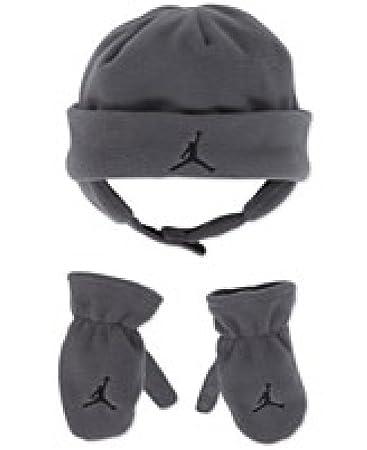 Amazon.com  Nike Jordan Baby Boy s 12 24M Fleece Beanie Hat ... 83e2fc2f520