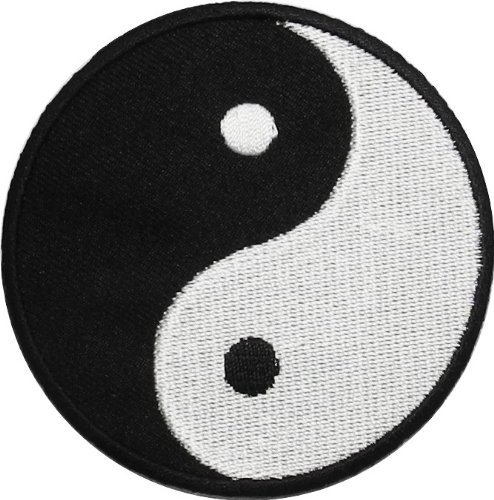 - Yin Yang Tao Dao Rainbow Chinese DIY Applique Embroidered Sew Iron on Patch YY-03
