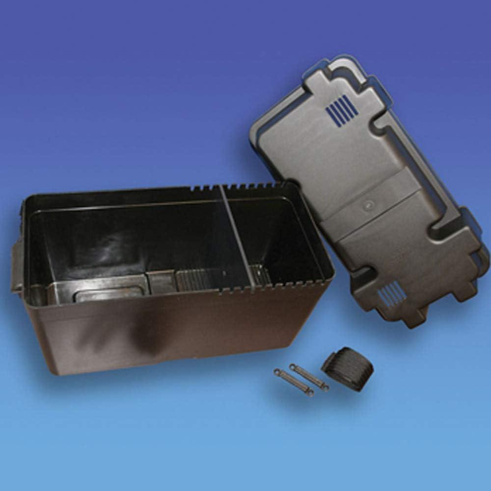 Coverandcarry Caja de bater/ía para autocaravana y barco tama/ño m/áximo de la bater/ía: 405 x 200 x 190 mm