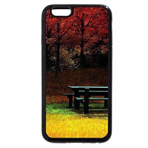 iPhone 6S / iPhone 6 Case (Black) Picnic Table in Autumn Park