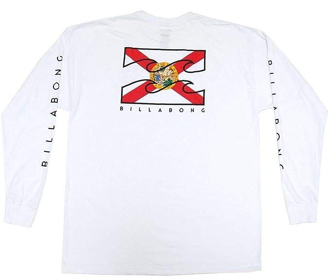 Billabong Mens Native Long Sleeve T-Shirt, White, Large: Amazon ...