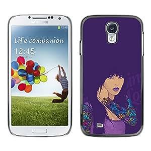 // PHONE CASE GIFT // Duro Estuche protector PC Cáscara Plástico Carcasa Funda Hard Protective Case for Samsung Galaxy S4 / SEXY TATTOO GIRL /