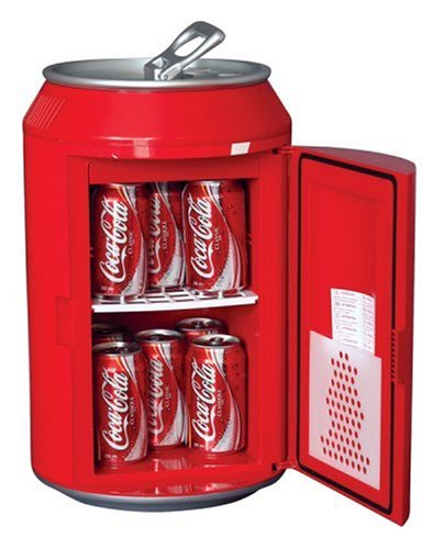 Coca-Cola Koolatron CC12 Can-Shaped 12-Can-Capacity Fridge, Red