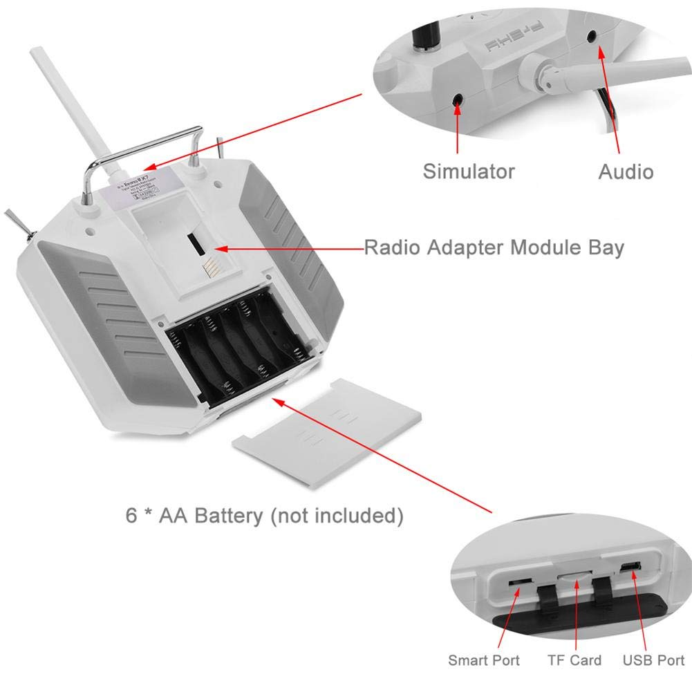 FrSky Taranis Q X7 Transmitter 16CH ACCST 2.4GHz RC Transmitter Compatible con Frsky Receiver para FPV Racing Drone Quadcopter StageOnline Transmisor de RC