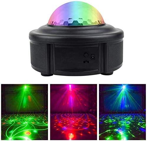 IhDFR コントロールパーライトは、LEDの色10WディスコボールサウンドパーティーライトのBluetoothスピーカー、7モードステージパーライトホームルームパーティークリスマスのカラオケバーの表示を活性化