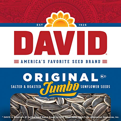 DAVID Roasted and Salted Original Jumbo Sunflower Seeds, Keto Friendly, 5.25 Oz, 12 Pack 7