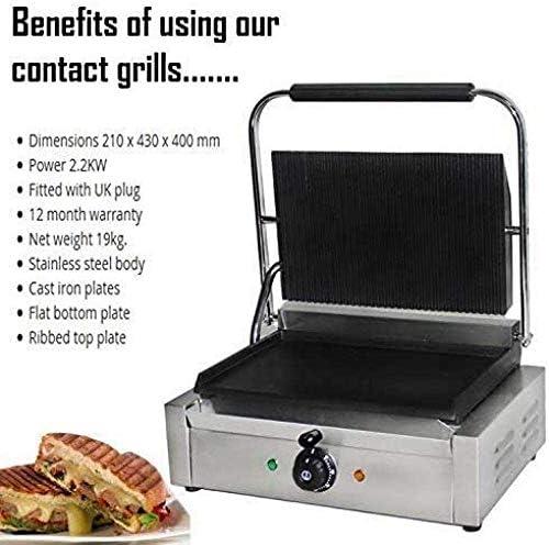 Grande cuisson de presse variable de contrôle thermique plaque chauffante 2 2Kw Puissance robuste à fond plat Plaque chauffante électrique Grills hsvbkwm (Mise à jour) QIANGQIANG