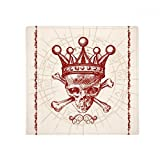 Diamonds Red Crown Skeleton Poker Card Pattern Anti-slip Floor Pet Mat Square Home Kitchen Door 80cm Gift