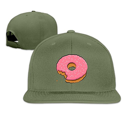 Joapron Munched Pink Donut Unisex Causal Fitted Flat Bill Baseball Cap - Pizza Hut Delivery Ipswich