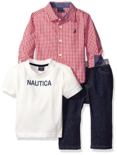nautica-boys-three-piece-set-with-long-sleeve-check-woven-shirt-tee-and-pant-red-rouge-0-3-months