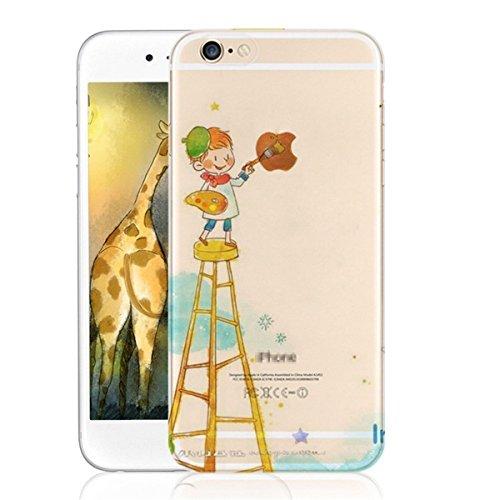 Vanki® Funda para iPhone 6 Plus / iPhone 6S Plus,Ultra Slim TPU Bumper Case Carcasa Gel Ligero Flexible Funda para iPhone 6 Plus / iPhone 6S Plus 12