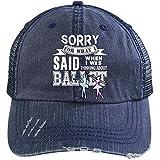 I Was Thinking About Ballet Hat, I Love Ballet Trucker Cap (Trucker Cap - Navy)
