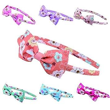 8b56be45f964 Candygirl Lot Serre-tête Satin Couvert avec Nœud Papillon Bandeau Cheveux  Accessoire Fille Enfant Elastique