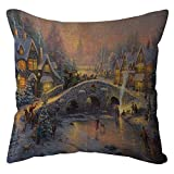 Pgojuni Home Decorative Throw Pillow Case Waist Cushion Throw Cotton Linen Pillow Case Sofa/Couch 1pc 45X45 cm (E)