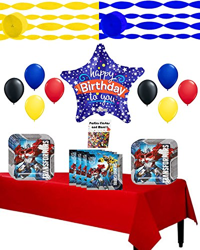 Transformers Animated Optimus Prime Child Costumes (Transformers Party Supplies Complete Birthday Party Supplies Set)