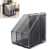 Kangsur Desk Organizer Metal Mesh 3 Vertical Compartments for Office Supplies