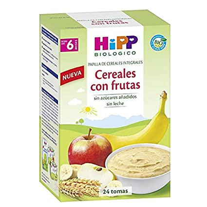 Papilla Biológica Cereales con frutas 6M HiPP, 600 g
