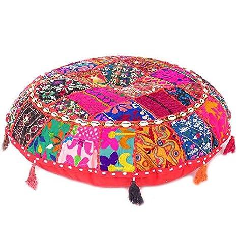 Eyes of India - Rojo Patchwork Redondo Colores Decorativos ...