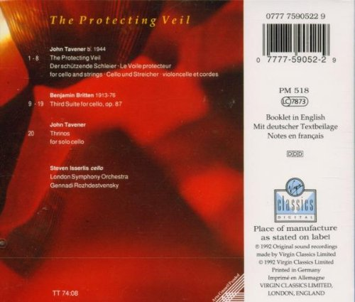 Tavener: The Protecting Veil; Thrinos / Britten: Third Suite for Cello, op. 87 by Virgin Classics