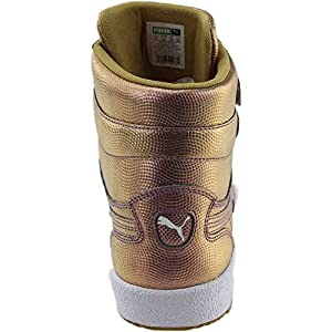 Puma Sky II Hi Holo Men US 11 Gold Basketball Shoe