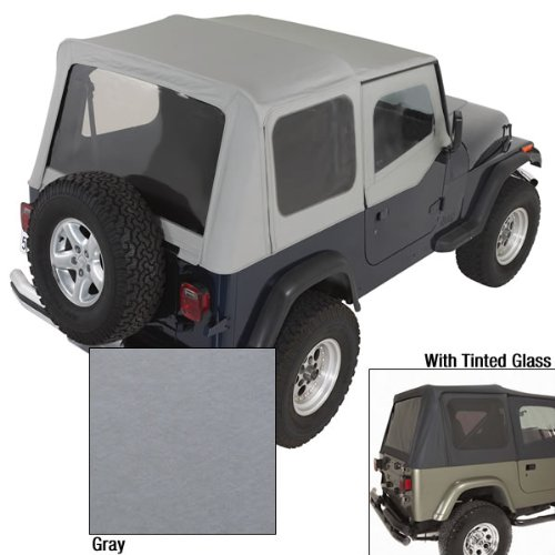 Charcoal Tinted Windows - Rugged Ridge 13722.09 Charcoal Soft Top with Tinted Window and Door Skin