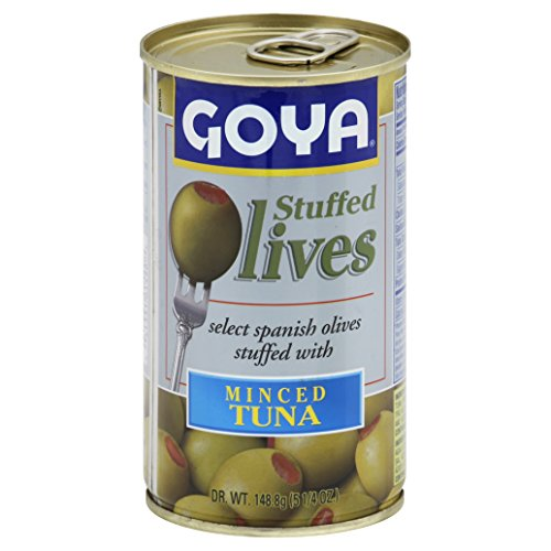 Goya Minced Tuna Stuffed Olives, 5.25-Ounce (Pack of 12)