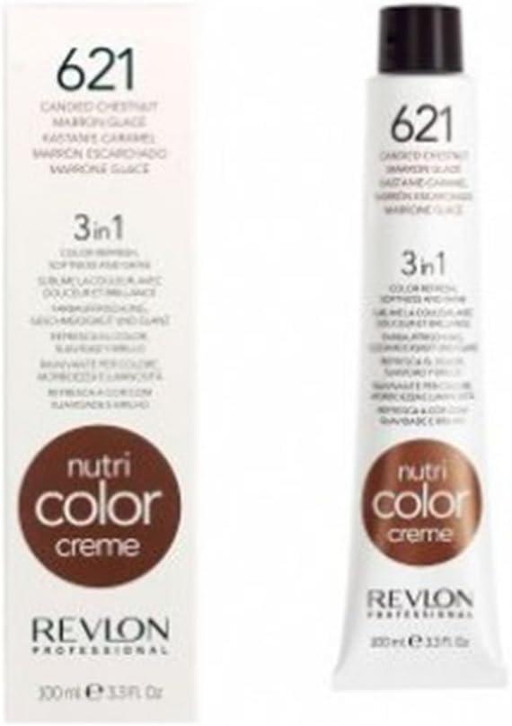 Revlon Nutri Color Creme Clásicos, Tinte para el Cabello 621 Marrón Glacé (solo formato 100 ml.) - 100 ml