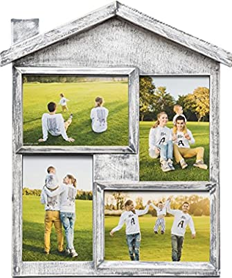 Photo Frame Collage - Large Multiple Picture Frame Displays Four 4x6 Inch - Gift for Family Love & Best Friends